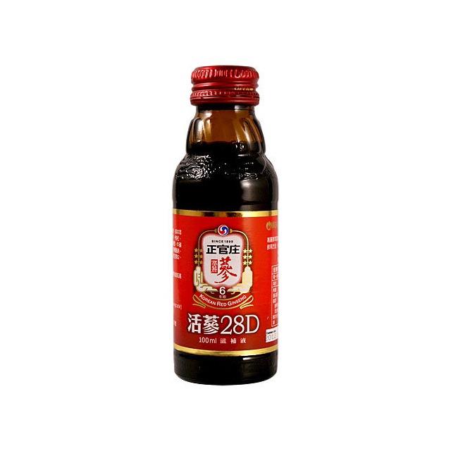 正官庄活蔘28D滋補液100ml~6瓶