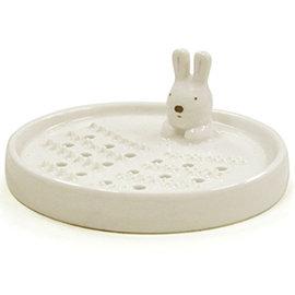~  ~淺米 3吋玉兔磨盤 031~1