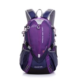 LOCAL LION 25L 透氣輕量化拔熱登山健行背包/含胸扣哨子(僅780g)自行車.攻頂背包.適旅行旅遊 書包/441 紫