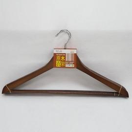 UdiShop 滿388~JW9383~3入歐式原木衣架 紅木附桿