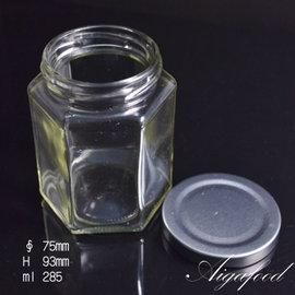 【艾佳】六角玻璃罐(附蓋)-1入
