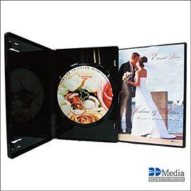 美規DVD光碟盒14mm黑色鏡面有膜–單片裝1箱 100片