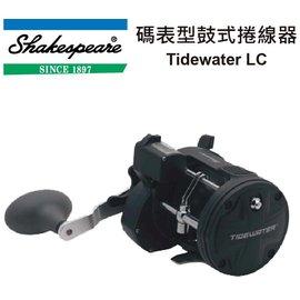◎百有釣具◎美國品牌 Shakespeare Tidewater LC  TW20LC 碼表型鼓式捲線器 ~加送200布線