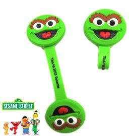 芝麻街Sesame Street 捲線器 集線器_綠色 奧斯卡