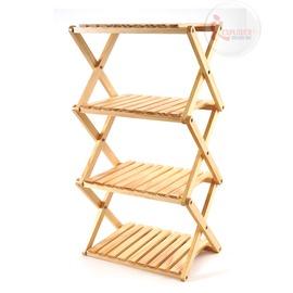 探險家戶外用品㊣TB012 嘉隆JIALORNG收疊式四層置物架 置物架 收納架 摺疊架 折疊架 實木置物架