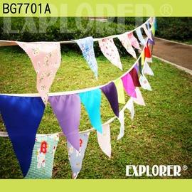探險家戶外用品㊣BG7701A 三角旗幟-花系列350cm(兩入) 三角吊旗 帳篷 露營 裝飾 喜宴佈置