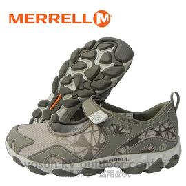 【美國 MERRELL】女新款 水陸兩棲健行鞋/運動鞋.娃娃鞋.輕量.適自行車.健走.溯溪.慢跑.止滑(非Nike)/灰色 J24720  DA