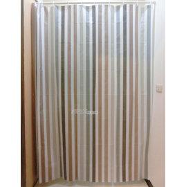 ^#9829 采緹 ^#9829 灰白條紋 180^~200 PEVA 防水浴簾、乾濕分離