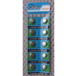 AG13/LR44 1.5V翻譯機,主機板,計算機,遙控器,耳溫槍,門窗防盜報警器,超音波驅蚊器 水銀電池/鋰電池/紐扣電池(10顆) [KBO-00038]