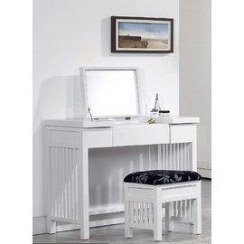 ~尚品傢俱~365~020~3 魯娜3.2尺白色兩用化妝台^(含椅^)