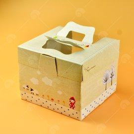 【艾佳】手提通用餐盒(6吋戚風可用)/5入包(花樣隨機出貨)
