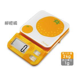 日本 DRETEC 多利科 幾何圖形料理電子秤 KS-221-ORKO 柳橙橘限定款