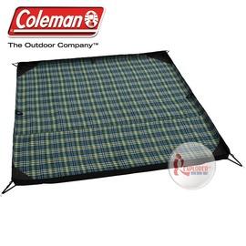 探險家戶外用品㊣CM-3392美國Coleman 防砂型保暖地墊 300 (275*275cm) 綠條紋 睡墊鋁箔墊野餐墊