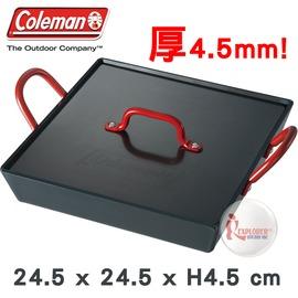 探險家戶外用品㊣CM-9483美國Coleman 附蓋迷你方形黑鐵煎鍋 雙口爐適用煎盤 烤盤 鐵板燒