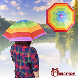 【Q禮品】B1931 彩色傘帽-小/防曬傘帽/釣魚帽/雨傘帽/戶外休閒/客製化印字/贈品禮品