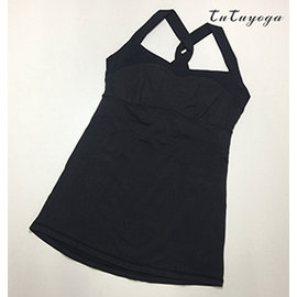 easyoga~1401~215L^~輕薄布料款^~ 弧線寬肩帶上衣~瑜珈服