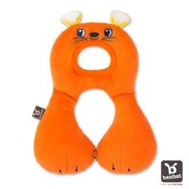 【紫貝殼】『BE02』【以色列Benbat】寶寶旅行頸枕/頭枕  適用1-4歲  橘老鼠【保證公司貨●品質有保證●非水貨】