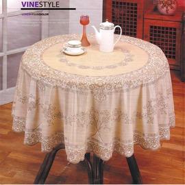•Vine Style • 玫瑰壓紋防水桌巾~~180x180cm正圓~共有四色
