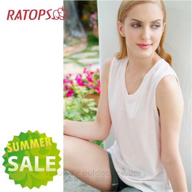 【瑞多仕-RATOPS-涼夏熱銷】女款 Coolmax 快乾排汗內衣.背心.吸濕.快乾.抗UV.降溫.隔熱/ DE7012 淺嫩膚色 V