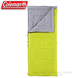 【美國 Coleman】Performer C15 表演者睡袋15度C.信封型睡袋.輕量化纖睡袋(700g)/可機洗.附收納袋.可當棉被.睡墊 /CM6930 萊姆綠