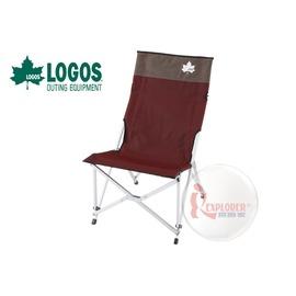 探險家戶外用品㊣NO.73170024 日本品牌LOGOS DX鋁合金巨川椅紅 鋁合金大川椅導演椅野營椅折疊椅休閒椅