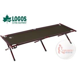 探險家戶外用品㊣NO.73171005 日本品牌LOGOS Premium 金牌 極太平面鋁合金行軍床 快速可搭起 休閒床 摺疊床