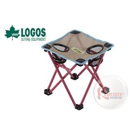 探險家戶外用品㊣NO.73173018 日本品牌LOGOS 迷你桌卡其/藍 (透氣網布) 置物椅置杯架置物桌置物架