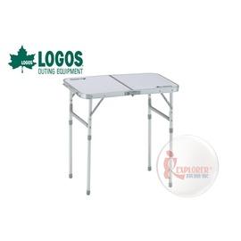 探險家戶外用品㊣NO.73180015 日本品牌LOGOS 2FD  60*40cm折合桌 摺疊桌/折疊桌/置物桌/摺合桌/休閒桌6040-N