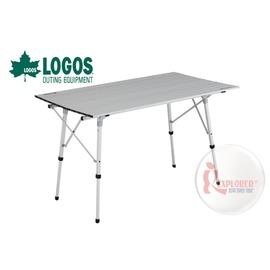 探險家戶外用品㊣NO.73185002 日本品牌LOGOS 120*70cm鋁捲桌 鋁合金蛋捲桌 快速可搭起 折合桌摺疊桌12070