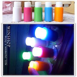 【winshop】A1940 七彩吸盤小夜燈-5入/七彩LED燈/按壓小夜燈/拍拍燈/緊急照明/情境燈/居家活動裝飾