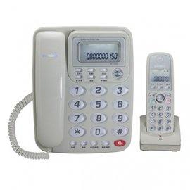 WONDER 旺德 2.4GHz高頻數位無線電話 子母機 WT-D02 灰
