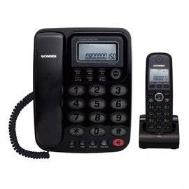 WONDER 旺德 2.4GHz高頻數位無線電話 子母機 WT-D02 黑