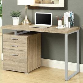 康迪仕摩登電腦書桌   淺木色    電腦桌  書桌  辦公桌  厚板電腦桌