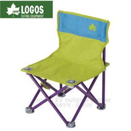 【日本 LOGOS】雙色野營椅.童軍椅.導演椅.折疊椅.摺疊椅.折合椅/新式收納束帶設計.開合收納迅速/73170012 綠/藍