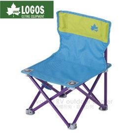【日本 LOGOS】雙色野營椅.童軍椅.導演椅.折疊椅.摺疊椅.折合椅/新式收納束帶設計.開合收納迅速/73170013 藍/綠