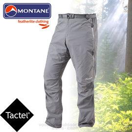 【英國 Montane】Terra Pack Pants 男款 泰拉PP輕量耐磨長褲.附腰帶及收納袋/Tactel 防潑水彈性布料.防曬UPF 40+/MTPPA 石墨灰