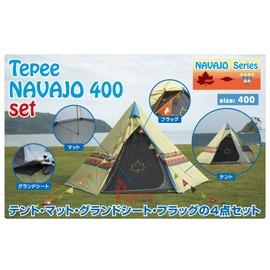 探險家露營帳篷㊣NO.71809510 日本品牌LOGOS 印地安帳篷400帳+防潮內墊+地墊+三角旗全套 印第安帳棚 風格露營用品