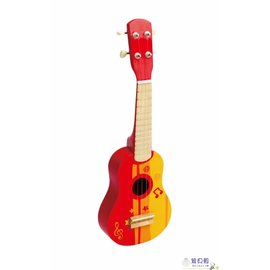 【紫貝殼】『CLA28』德國Hape愛傑卡 音樂系列-烏克麗麗-紅.3歲以上.兒童樂器.新品登場【店面經營/可預約看貨】
