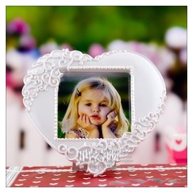 心型歐式相框純白像框高檔仿古相框情人節 生日 結婚回禮