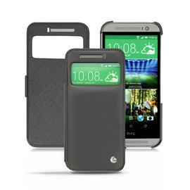NOREVE HTC One M8 視窗皮套 真皮皮革 保護套 保護殼 手工訂製 法國頂級手機皮套 專賣店