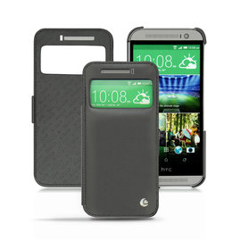 NOREVE HTC One M8 視窗真皮皮套 手機套 皮革保護套 保護殼 手工訂製  法國頂級手機皮套 5種設計50種以上顏色