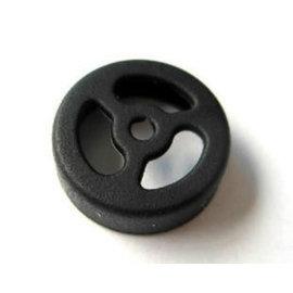 新竹市[車輪款] 藍芽耳機/一般耳機 耳帽/耳機套/耳機蓋 (14mm) 黑 [OCE-00003]