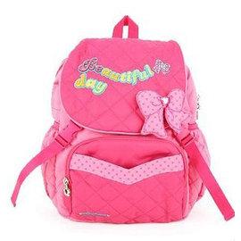 韓風童品 ~ ~出口韓國 女童雙肩後背包 兒童背包 兒童棉布包 可愛公主蝴蝶結 旅遊背包