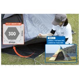 探險家戶外用品㊣NO.71809705 日本品牌LOGOS 六角形帳蓬防潮地墊300 (適用印地安300帳棚系列、印第安帳篷地布
