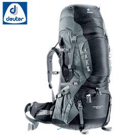 【德國 Deuter】Aircontact Pro70+15L拔熱式透氣背包.登山背包.背包客 自助旅行 .露營.雙肩背包.旅行包 _ 33843 黑/灰