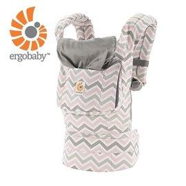 【紫貝殼】『BA02』美國Ergo Baby ergobaby Carrier爾哥寶寶揹帶/揹巾/背巾(原創*粉紋) 【贈KA09美國製醫療香草奶嘴3顆】