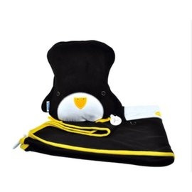【紫貝殼】『GE21』英國 Trunki Snoozihedz 三合一攜帶型旅行被枕組/旅行被枕/車內毯/隨行毯/車用枕/攜帶毯【企鵝】