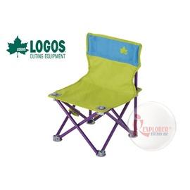 探險家戶外用品㊣NO.73170012 日本品牌LOGOS 雙色野營椅綠/藍 休閒椅 導演椅 兒童椅 折疊椅