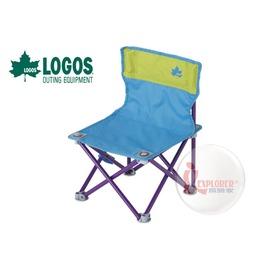 探險家戶外用品㊣NO.73170013 日本品牌LOGOS 雙色野營椅藍/綠 休閒椅 導演椅 兒童椅 折疊椅