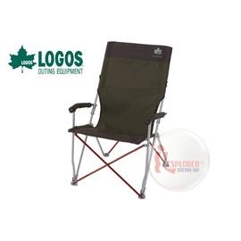 探險家戶外用品㊣NO.73171004 日本品牌LOGOS PREM雙色高背椅 休閒椅 導演椅 大川椅 折疊椅